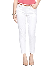 Natalie Fit Cotton Five-Pocket Pants