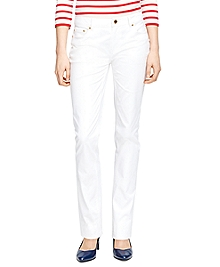 Natalie Fit Five-Pocket Cotton Pants