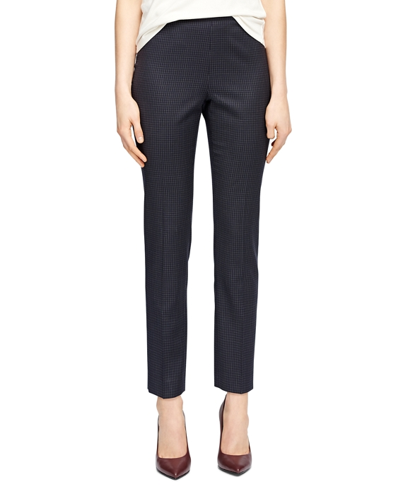 Lucia Fit Wool Small Windowpane Trousers