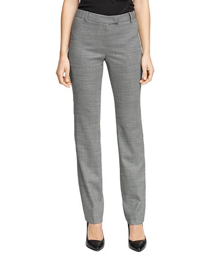 Lucia Fit Bird's-Eye Wool Trousers
