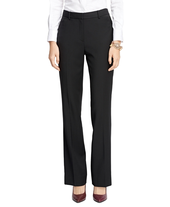 Caroline Fit Wool Trousers Black