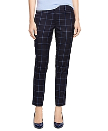 Lucia Fit Wool Windowpane Trousers