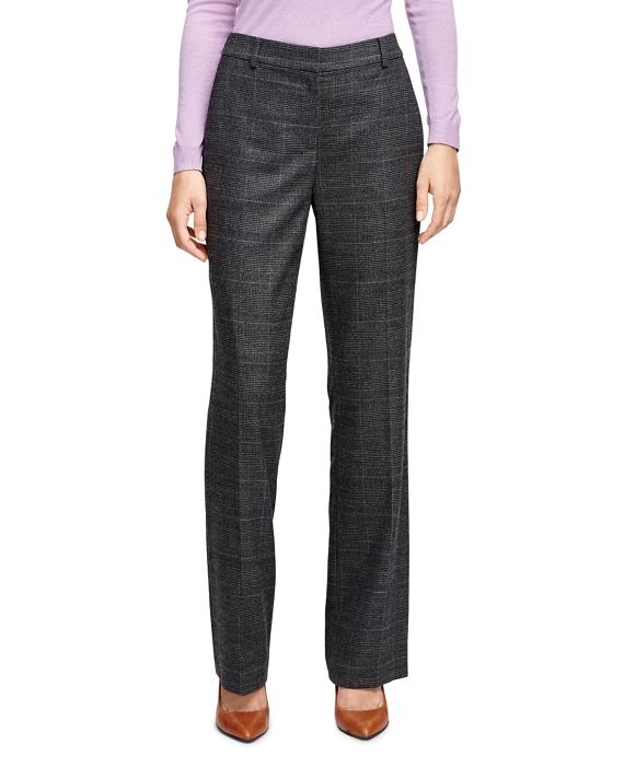 Caroline Fit Saxxon Wool Plaid Trousers
