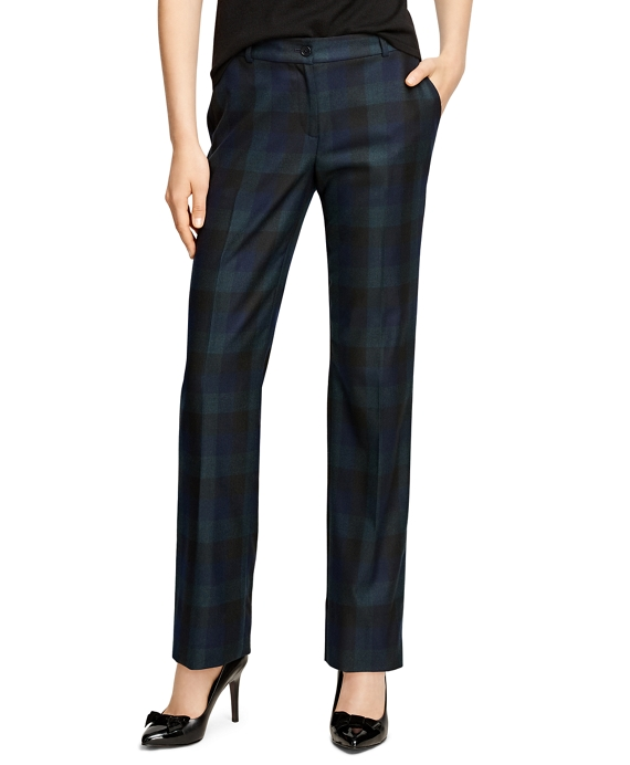 Lucia Fit Wool Plaid Trousers