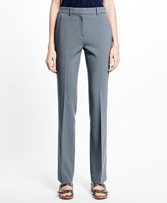 Flat-Front Stretch Trousers