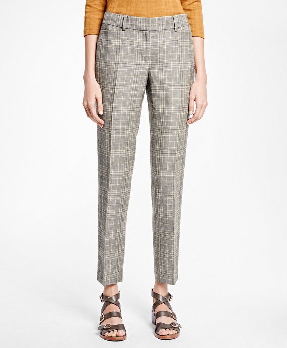 Tapered Glen Plaid Trousers
