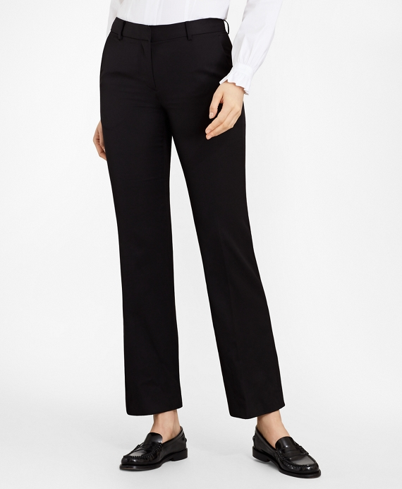 Gabardine Trousers Black