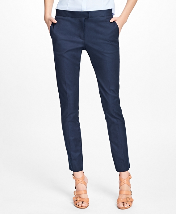 Flat-Front Stretch Advantage Chino® Pants Navy