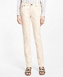 Natalie Fit Twill Cotton-Blend Pants