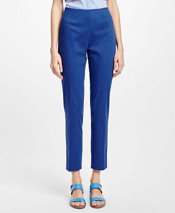 Stretch Cotton Twill Pants Blue