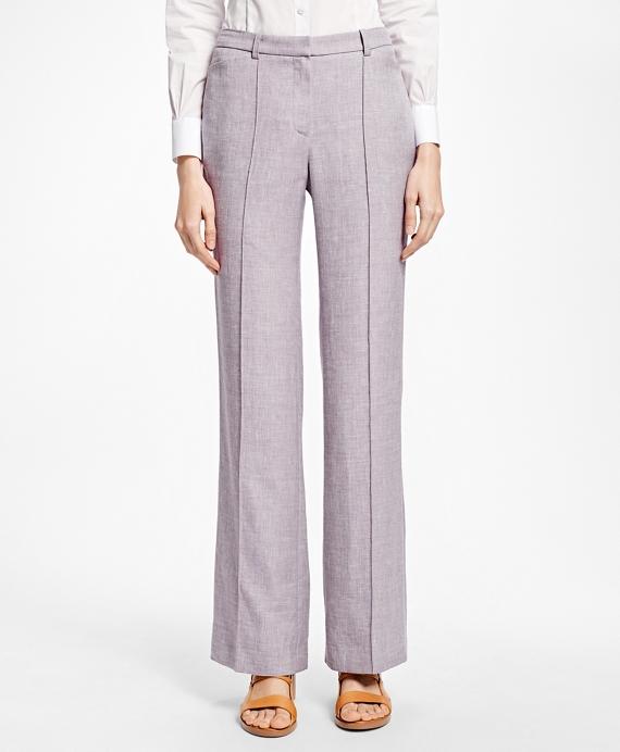 Wide Leg Linen-Blend Pants
