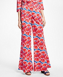 Floral-Print Cotton Sateen Pants