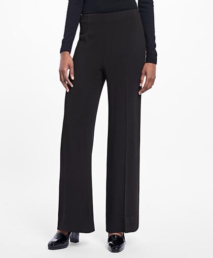 Wide-Leg Stretch-Crepe Pants