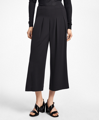 Cropped Crepe Palazzo Pants