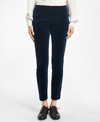 Slim-Fit Velveteen Pants