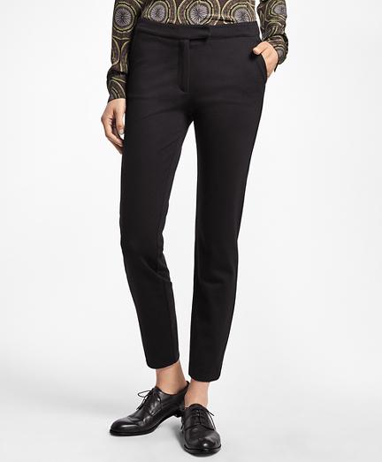 Slim-Fit Ponte Knit Pants