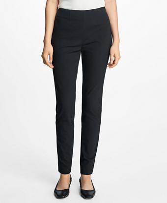 High-Waist Stretch-Cotton Pants