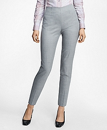Slim-Fit Heathered Stretch Wool Twill Trousers