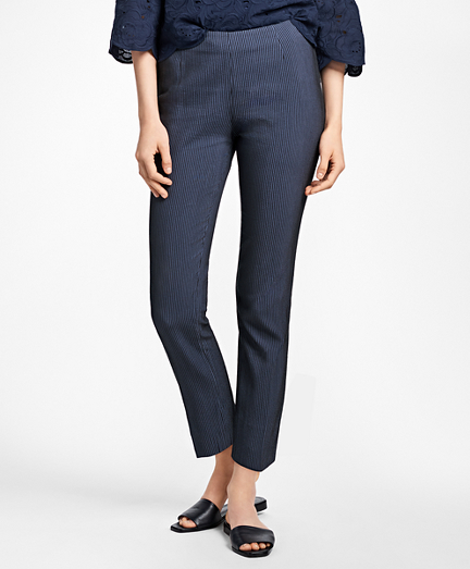 Cropped Corded Cotton-Blend Pants