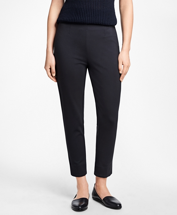 Slim-Fit Cropped Pants Navy