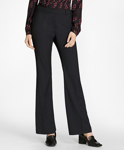 Wool Diamond Jacquard Wide-Leg Pants