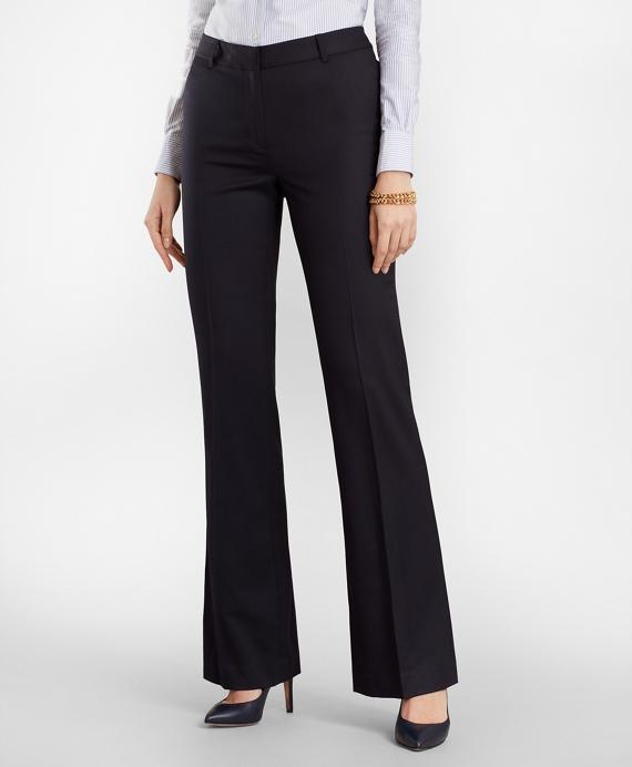 Wool Wide-Leg Pants Navy