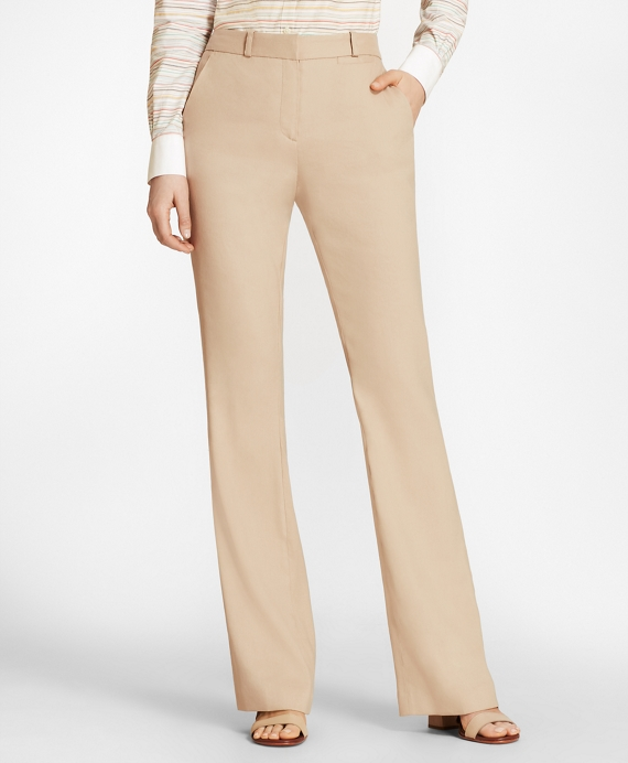 Stretch Linen-Blend Twill Pants
