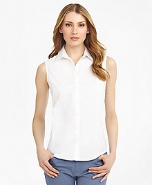 Non-Iron Fitted Sleeveless Dress Shirt