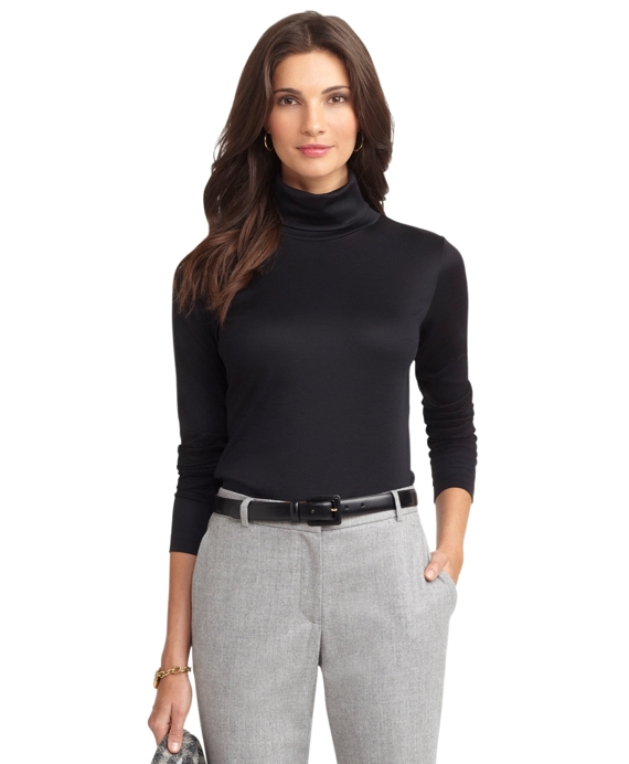 Cotton Turtleneck Black