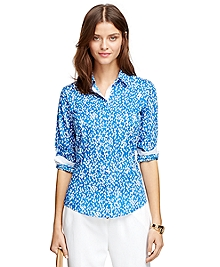 Tailored Fit Tulip Print Dress Shirt