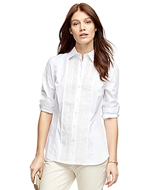 Cotton Pleated Dress Shirt