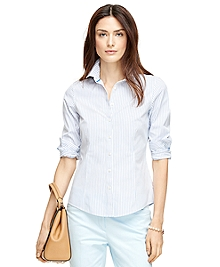 Non-Iron Tailored Fit Stripe Dress Shirt