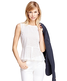 Cotton Peplum Shirt