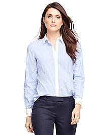 Non-Iron Tailored Fit Stripe Dress Shirt