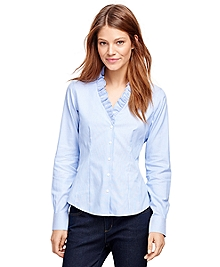 Non-Iron Ruffled Collar Dress Shirt