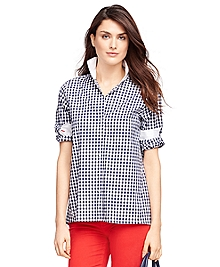 Cotton Check Tunic