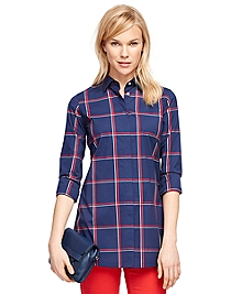 Cotton Windowpane Tunic