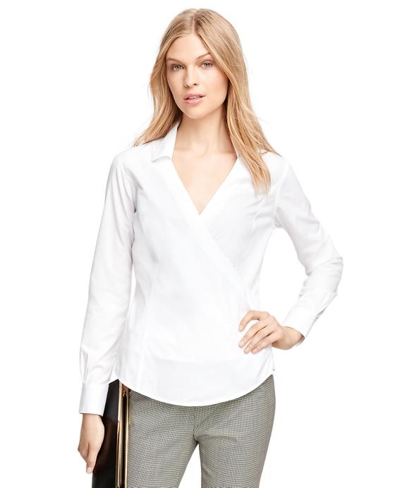 Non-Iron Cotton Faux Wrap Dress Shirt