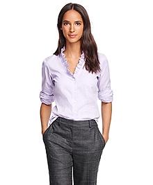 Non-Iron Ruffle Collar Dress Shirt