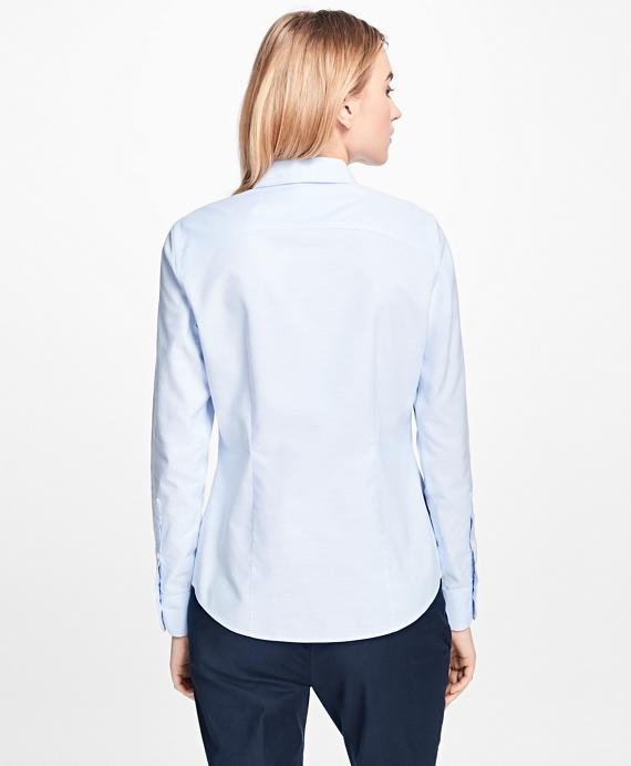 Non iron tailored fit supima cotton dress shirt brooks for Supima cotton dress shirts