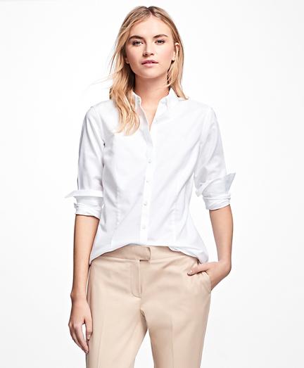 Non-Iron Tailored-Fit Supima® Cotton Dress Shirt