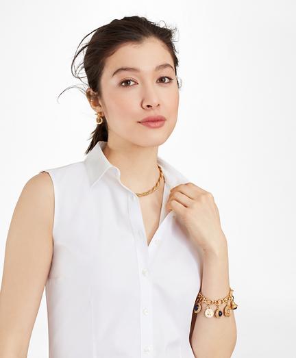 Non-Iron Fitted Sleeveless Dress Shirt