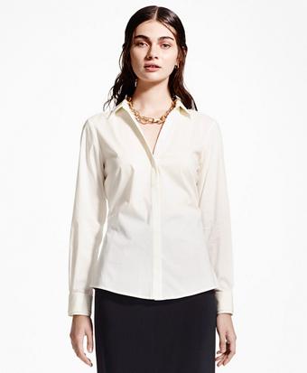 Silk Collar and Cuff Dress Shirt