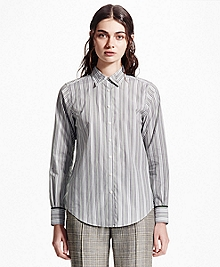 Long-Sleeve Cotton-Blend Shirt
