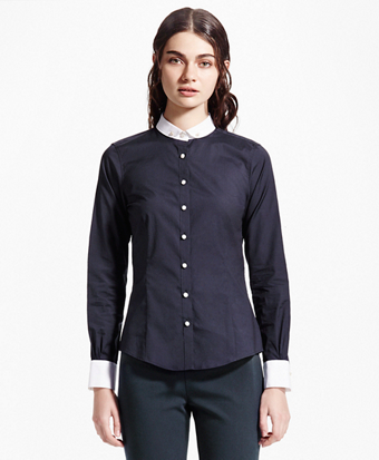 Tailored-Fit Club Collar Shirt