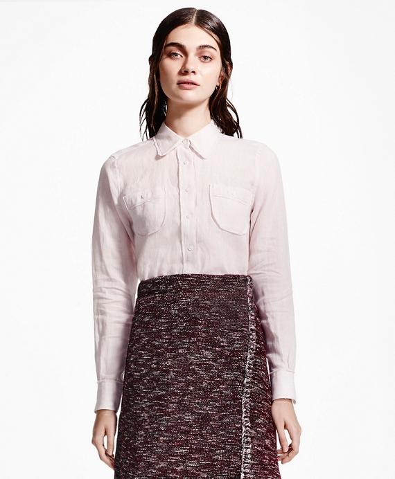 Linen Blouse Pink