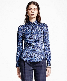 Silk Charmeuse Print Shirt