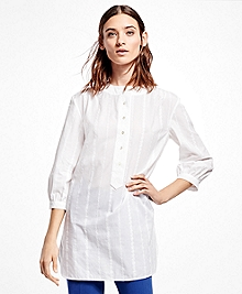 Three-Quarter-Sleeve Cotton Tunic