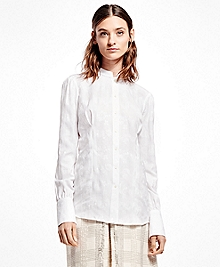 Cotton Jacquard Victorian Blouse