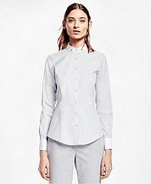 Tailored Club Collar Cotton Poplin Shirt